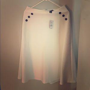 White House Black Market White Maxi Skirt